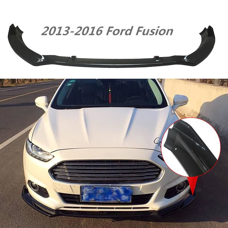 Ninte Ford Fusion 2013 2016 3 Pcs Gloss Black Carbon Fiber