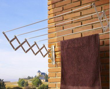 Tendedero acorde n extensible aluminio anodizado casa y for Tendedero jardin