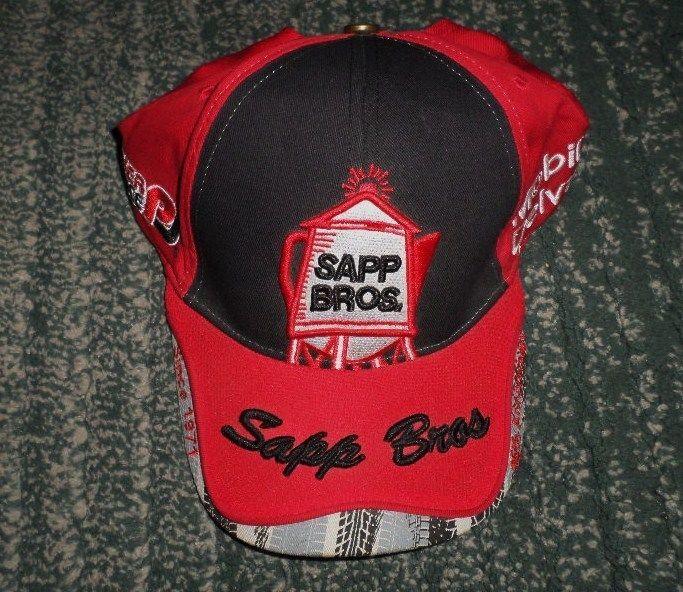 Men's Red & Black SAPP BROS 45th ANNIVERSARY Logos Hat