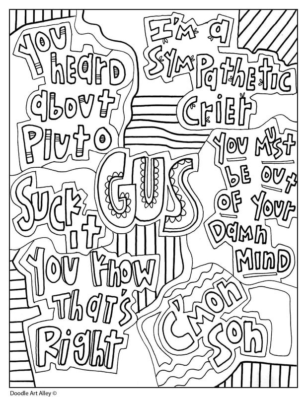 Psych Quotes - GUs | Quote coloring pages, Friends quotes ...