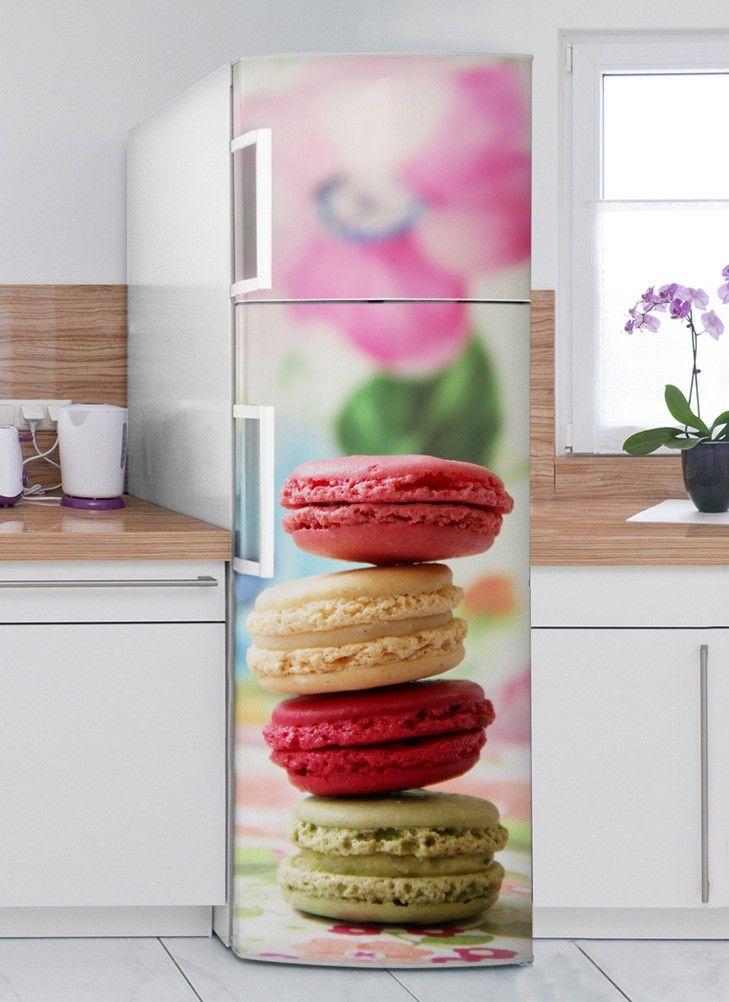 Macarons Délices  sticker Frigo XL #sticker #électroménager #deco - repeindre du papier peint