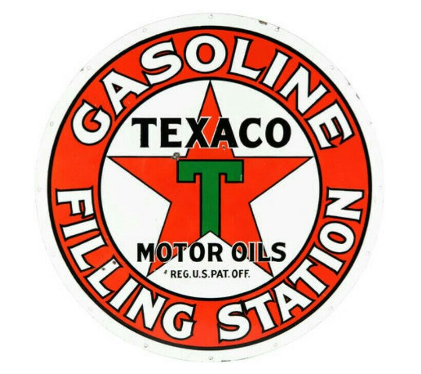 Vintage TEXACO Sign Texaco Gas Station Sign Texaco Motor Oil Metal Sign Red Art