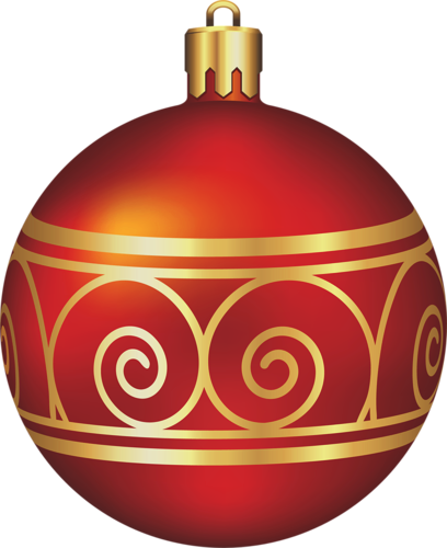Large Transparent Red and Gold Christmas Ball Christmas