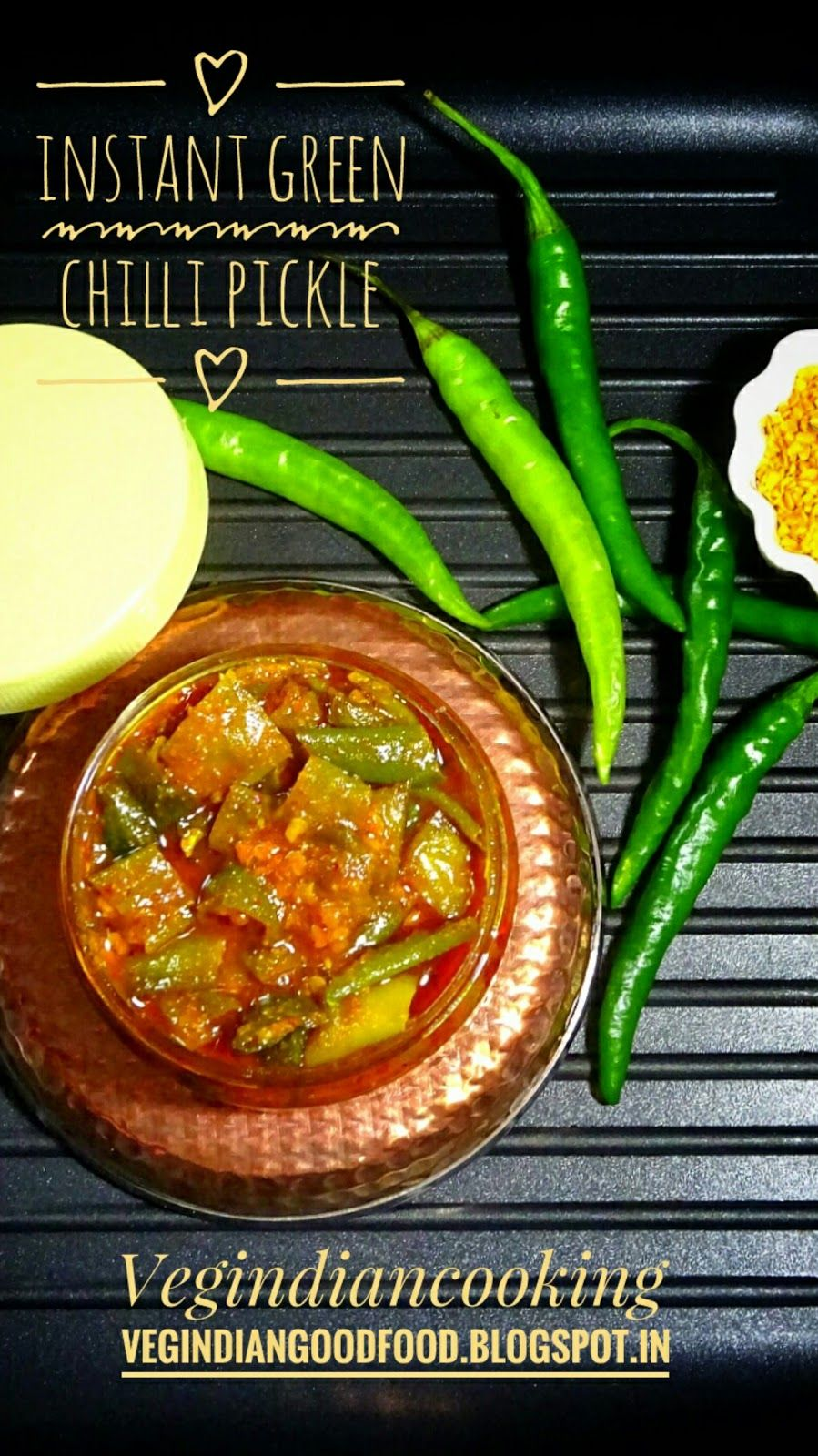 How To Make Instant Green Chilli Pickle  Hari Mirch Ka Achaar  Ready To  Eat