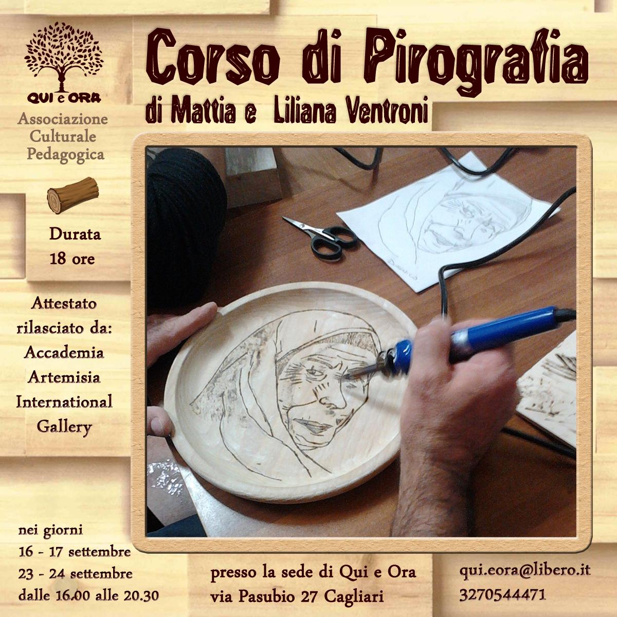 Corso Di Pirografia A Cagliari Con Mattia E Liliana Ventroni  # Muebles Macabane
