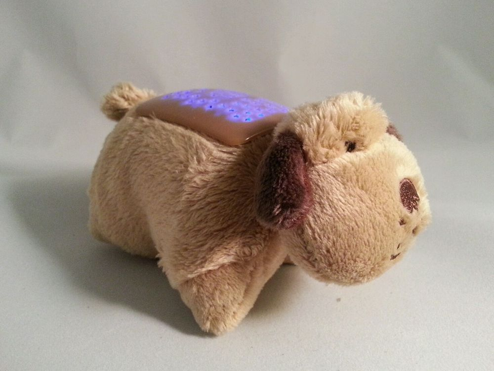Pillow Pets Dream Lites Puppy Dog Brown Plush Night Light New Without Packaging Animal Pillows Dogs And Puppies Brown Puppies