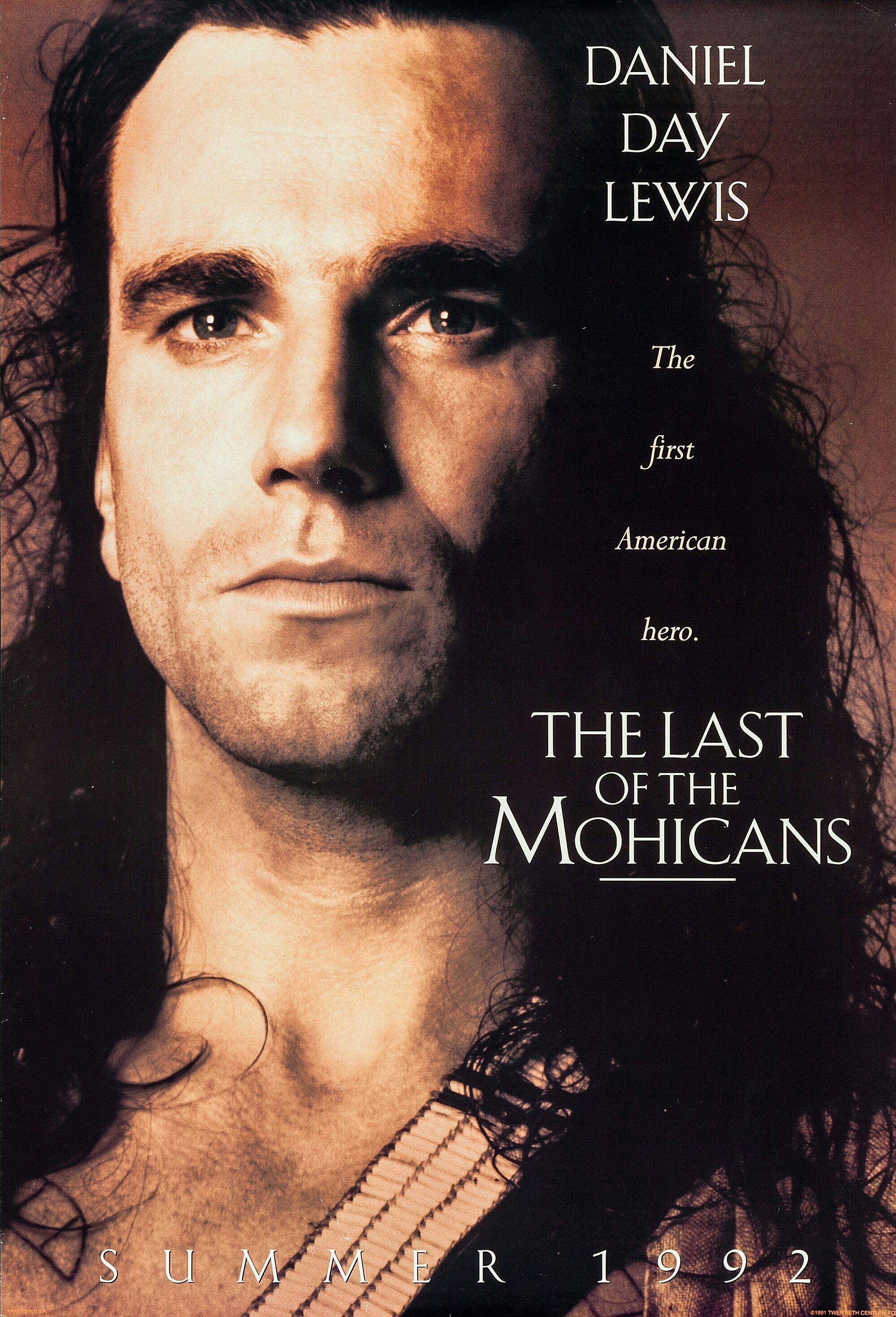 Last Of The Mohicans 1992 Michael Mann Films Cinema Film Affiche Film