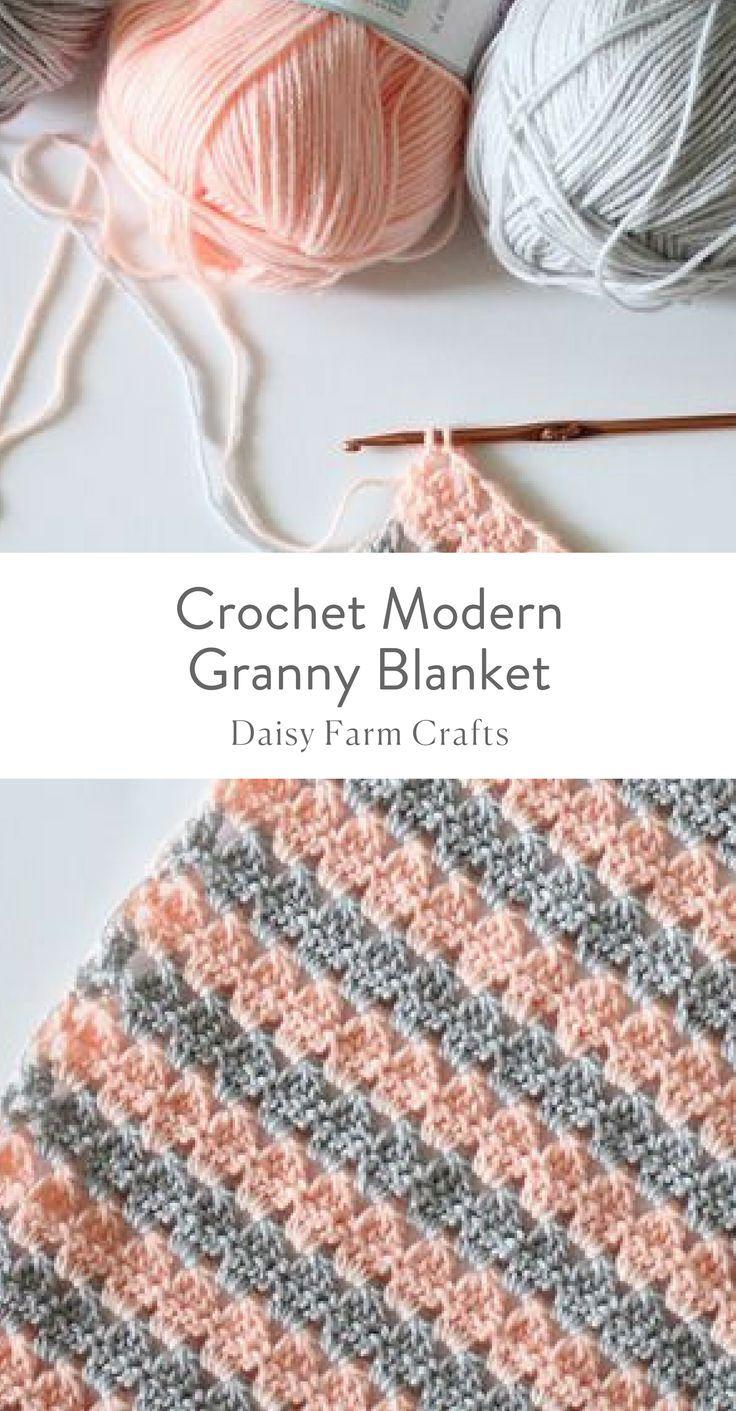 Free Pattern - Crochet Modern Granny Blanket #crochet #modern ...
