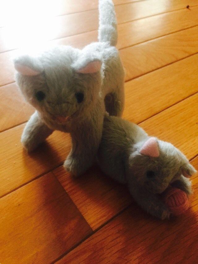 American Girl Kirsten's Cat Missy & Her Kitten, grey  Excellent RETIRED  | eBay