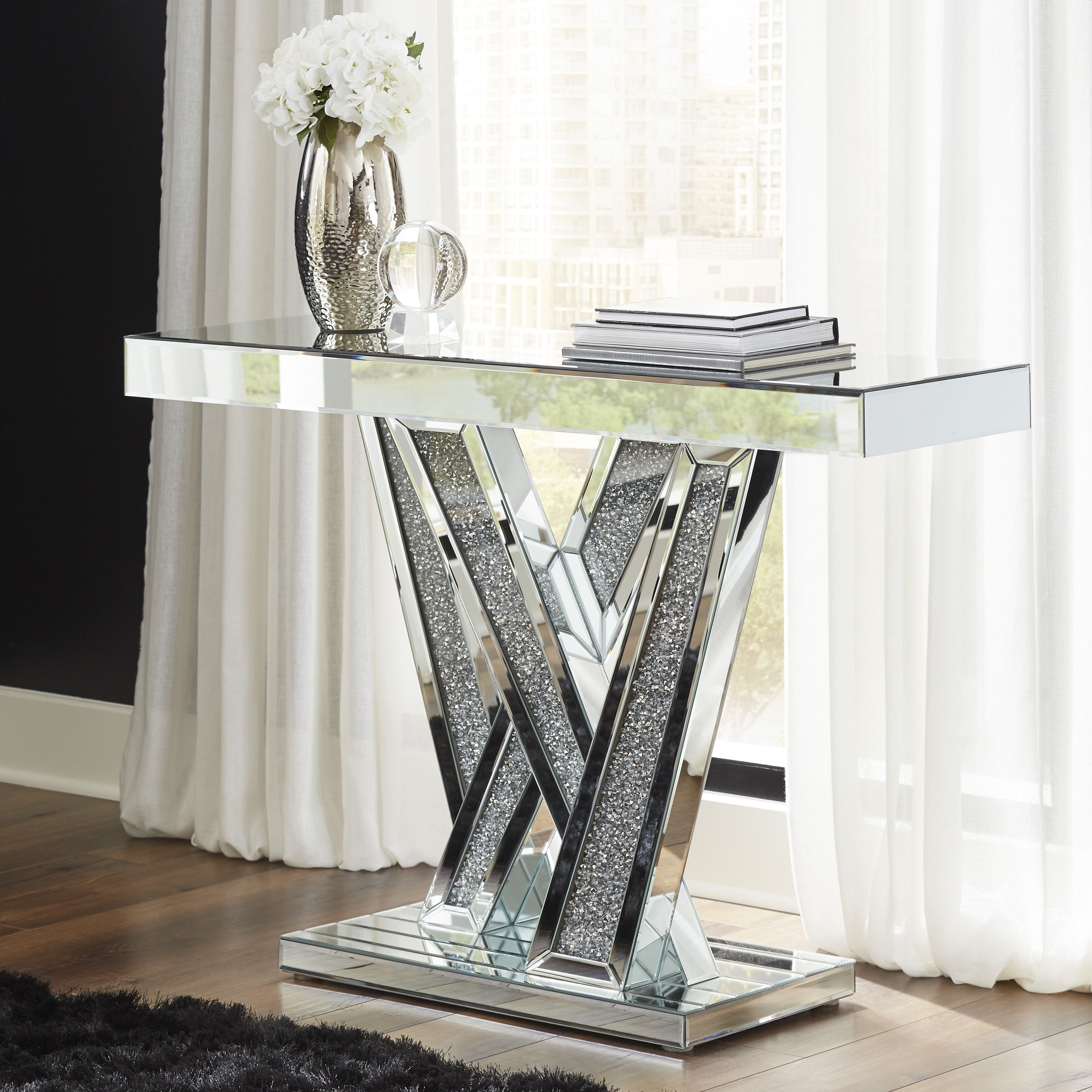 A4000170 In By Ashley Furniture In Mcallen Tx Gillrock Silver Accent Console Table In 2021 Ashley Furniture Furniture Console Table