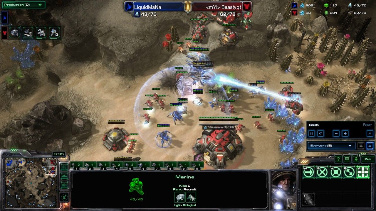 TvP: BeastyQT's creative double cyclone/bunker rush with