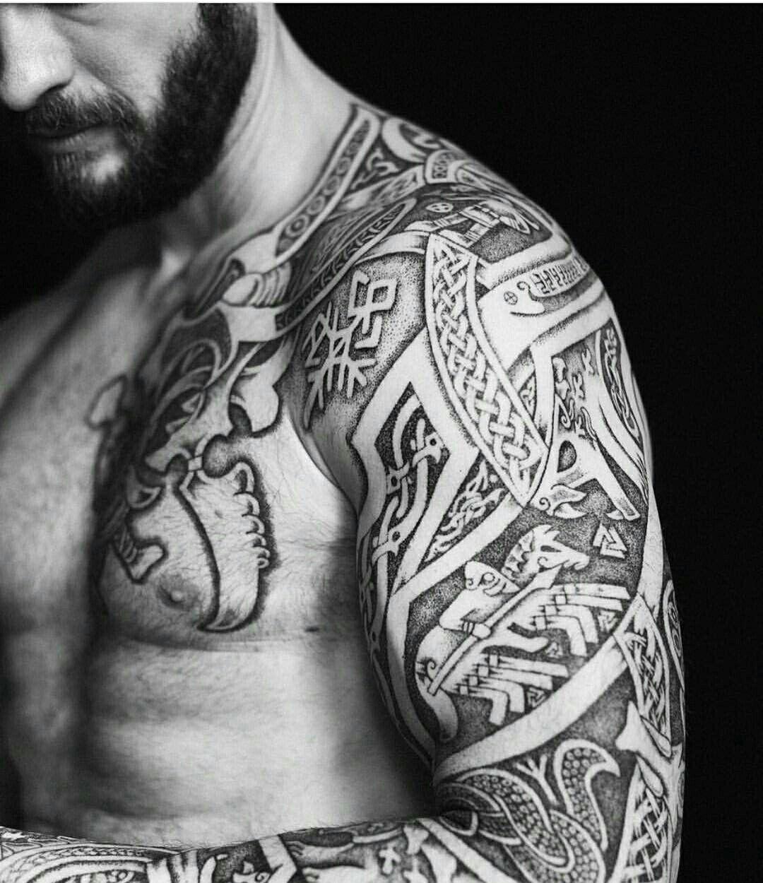 Sleeve Of Ragnorok Viking Tattoo Sleeve Celtic Tattoos Scandinavian Tattoo
