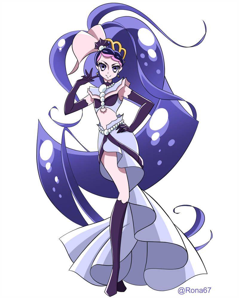 Dark Mermaid By Rona67 Magical Girl Anime Smile Pretty Cure Dark Mermaid