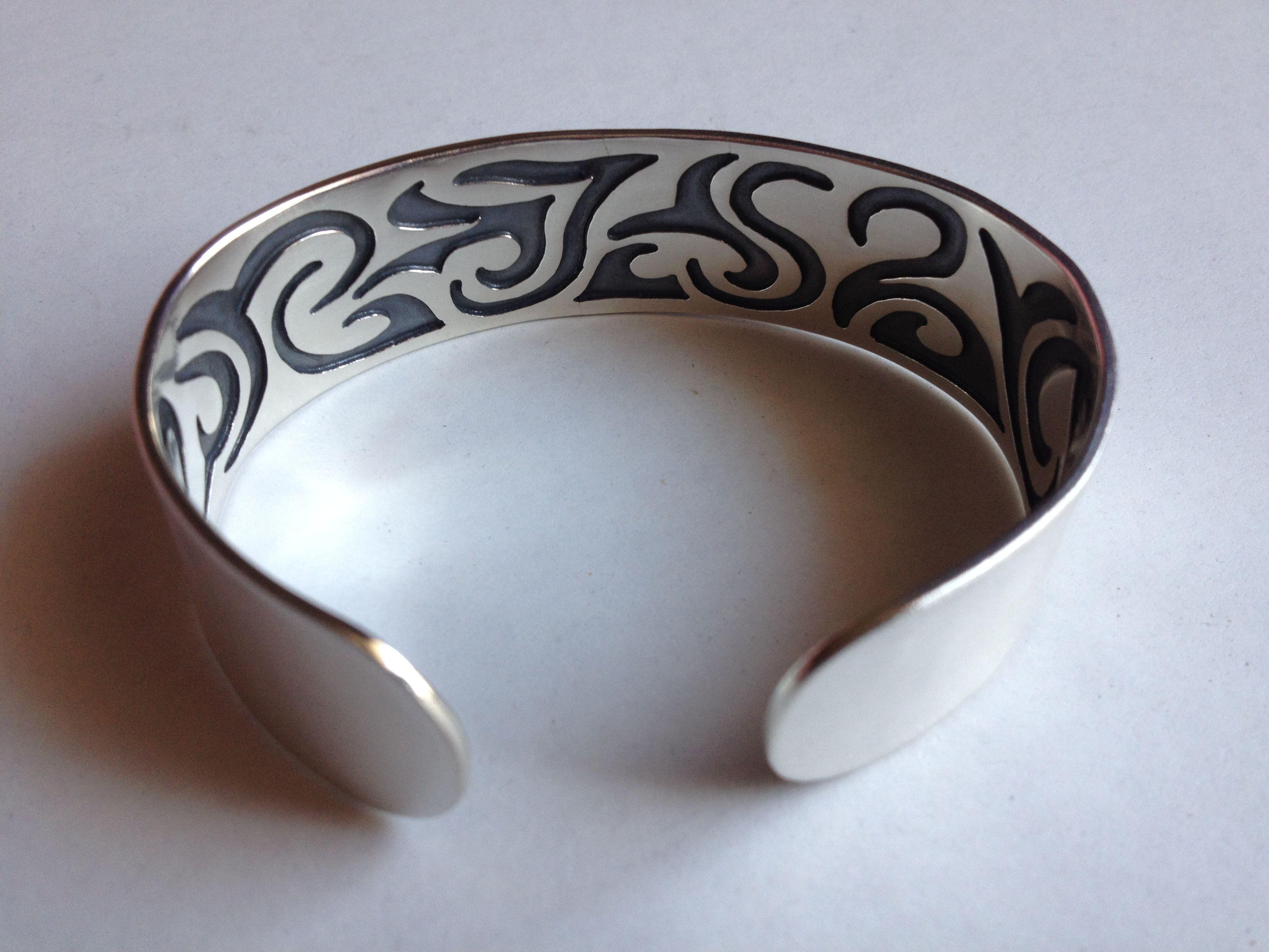 Tattoo armband Zilver