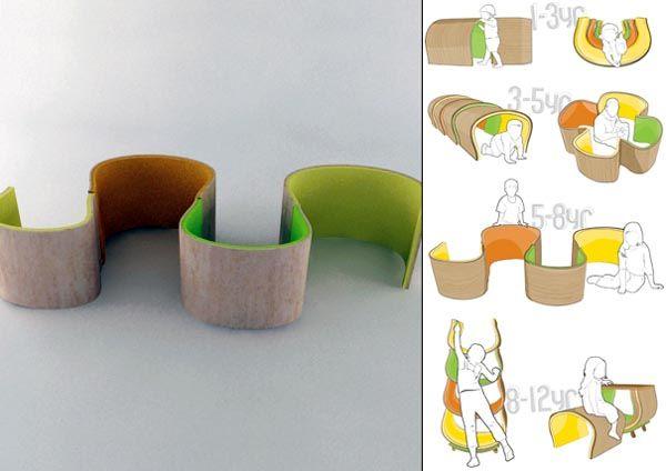 Kids Modular Furniture concept no size or price info Storage