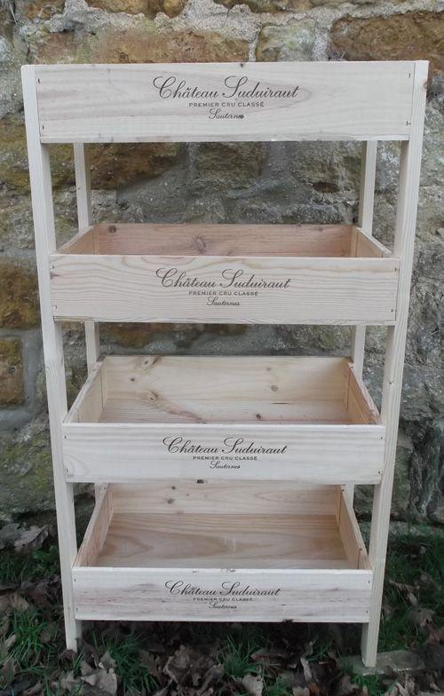 Vintage Wooden Wine Box Veg Rack Vegetable Or Storage Rack Diy Vegetable Storage Wooden Wine Boxes Wooden Diy