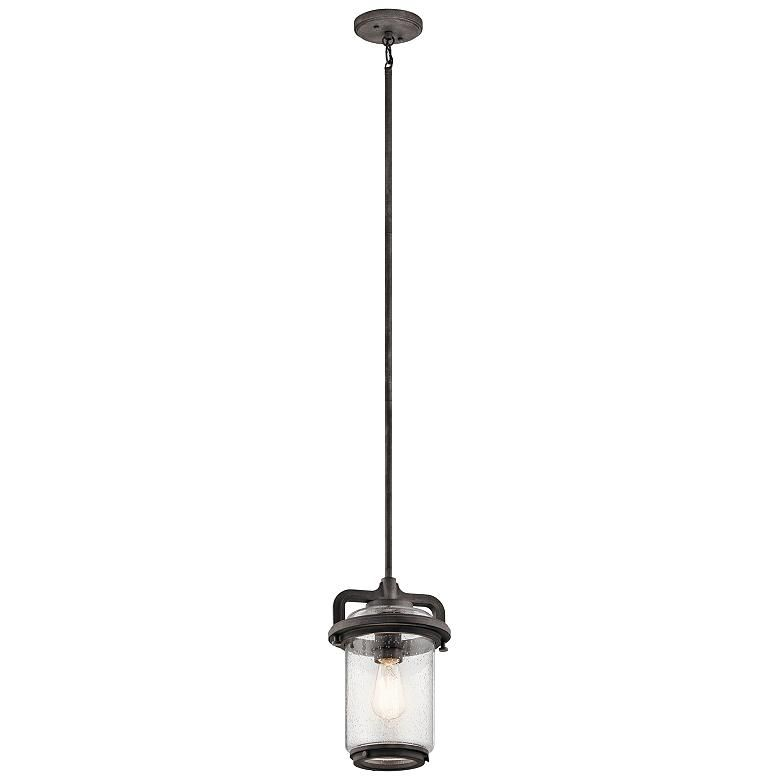 Best Andover 13 1 2 High Weathered Zinc Outdoor Hanging Light 400 x 300