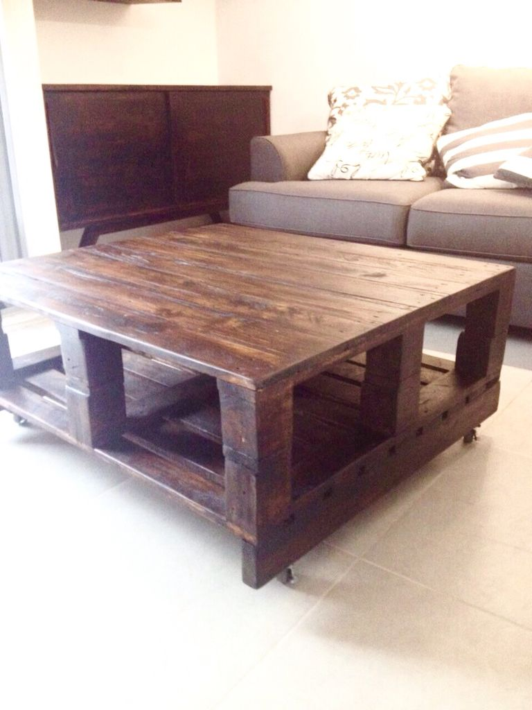 Pallet Coffee Table And Credenza Mid Century Style Pallet Furniture Custom  Made In Panama City Pty
