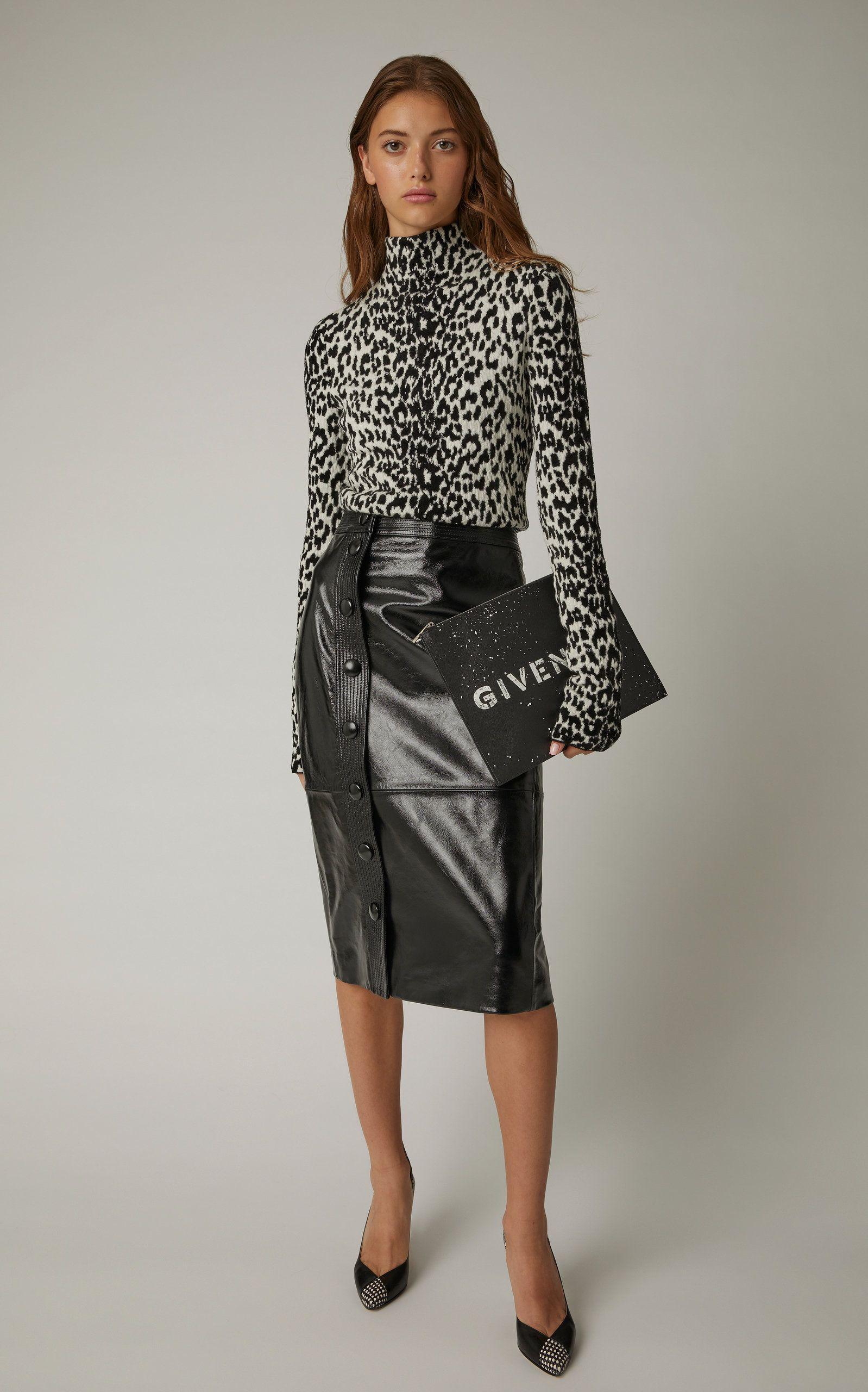 Button Front Faux Leather Midi Skirt - FINAL SALE   Faux