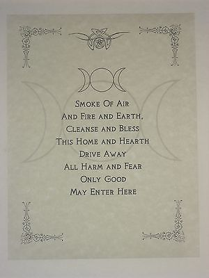 Wiccan House Blessings Poster or Book of Shadows Page Wicca Pagan Witchcraft in Collectibles, Religion & Spirituality, Wicca & Paganism | eBay
