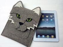 Katz iPad Hülle - Natur Designfilz