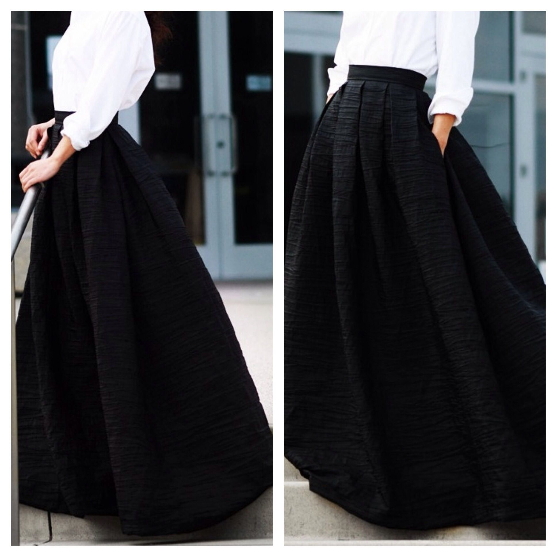BLACK BALL GOWN MAXI SKIRT - D.I.R. FASHION | sewing patterns ...