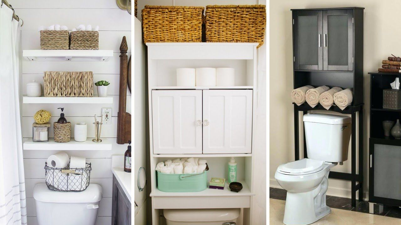 50 Small Bathroom Storage Ideas Over Toilet With Images Small