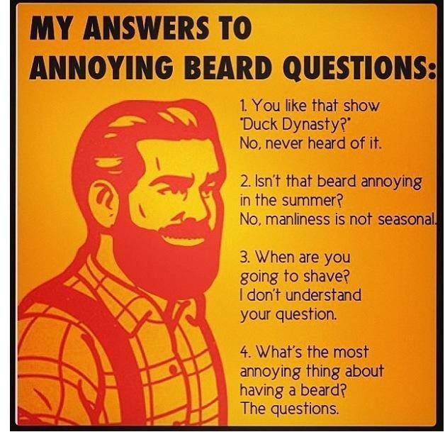 Beard Jokes, in case you needed a laugh today | Beard humor, This or that  questions, Beard memes