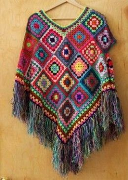 How to Crochet a Granny Square #grannysquareponcho