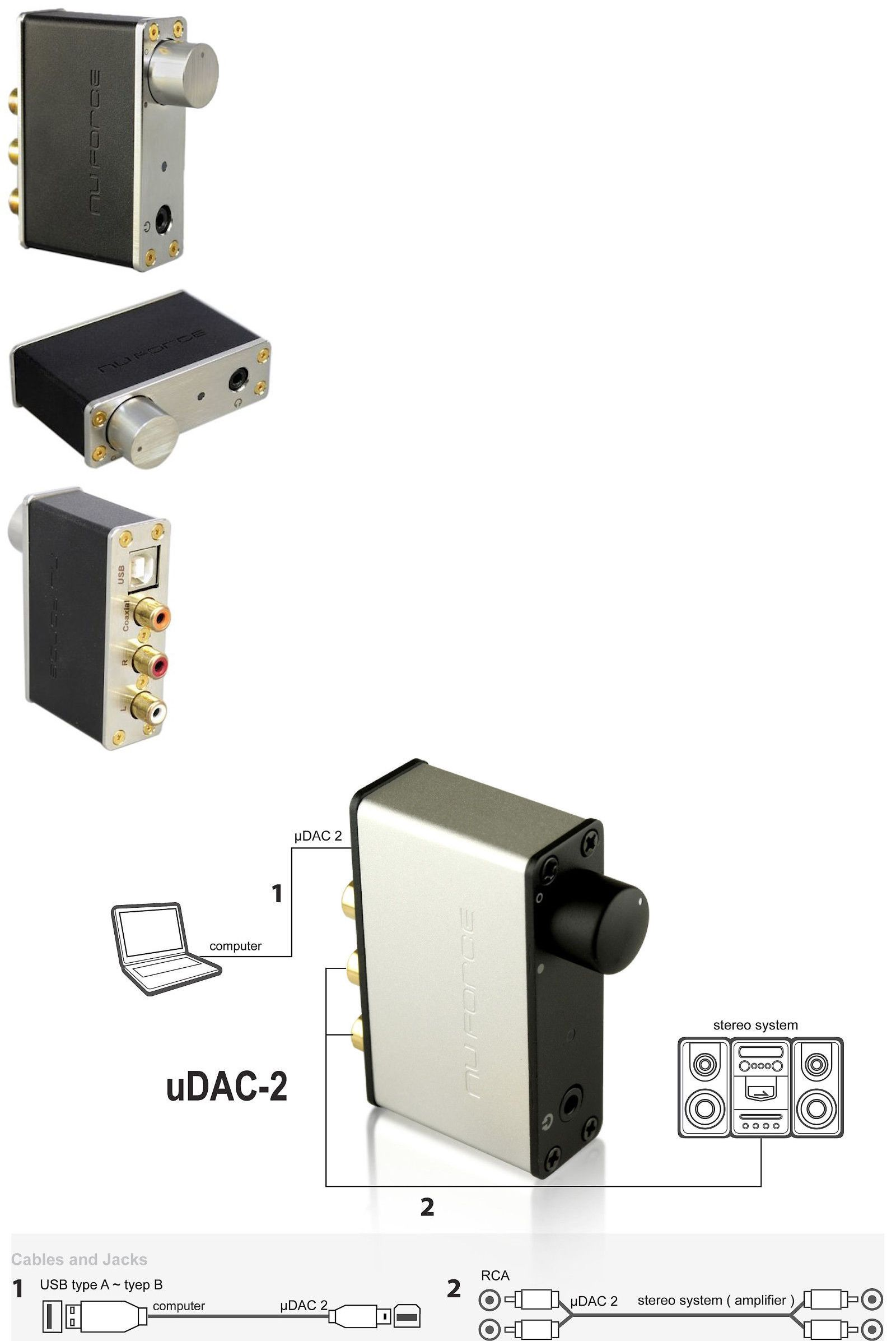 Amplifiers And Preamps Nuforce Icon Udac 2 24 Bit 96khz Usb Dac W Xduoo Xd 05 Amp Portable Headphone