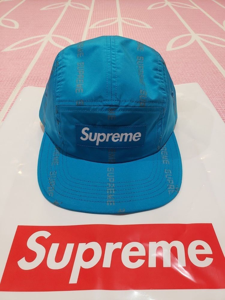 38e6063d SUPREME Reflective Text Stripe Camp Cap FW18 Blue SOLD OUT IN HAND NEW Box  Logo #fashion #clothing #shoes #accessories #mensaccessories #hats (ebay  link)