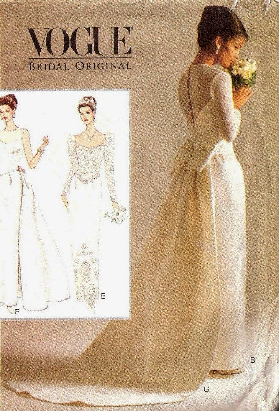 Vogue Bridal Patterns | Vogue Sewing Pattern Bridal Wedding Gown ...