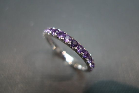 Hey, I found this really awesome Etsy listing at https://www.etsy.com/listing/115302521/amethyst-wedding-ring-in-18k-white-gold