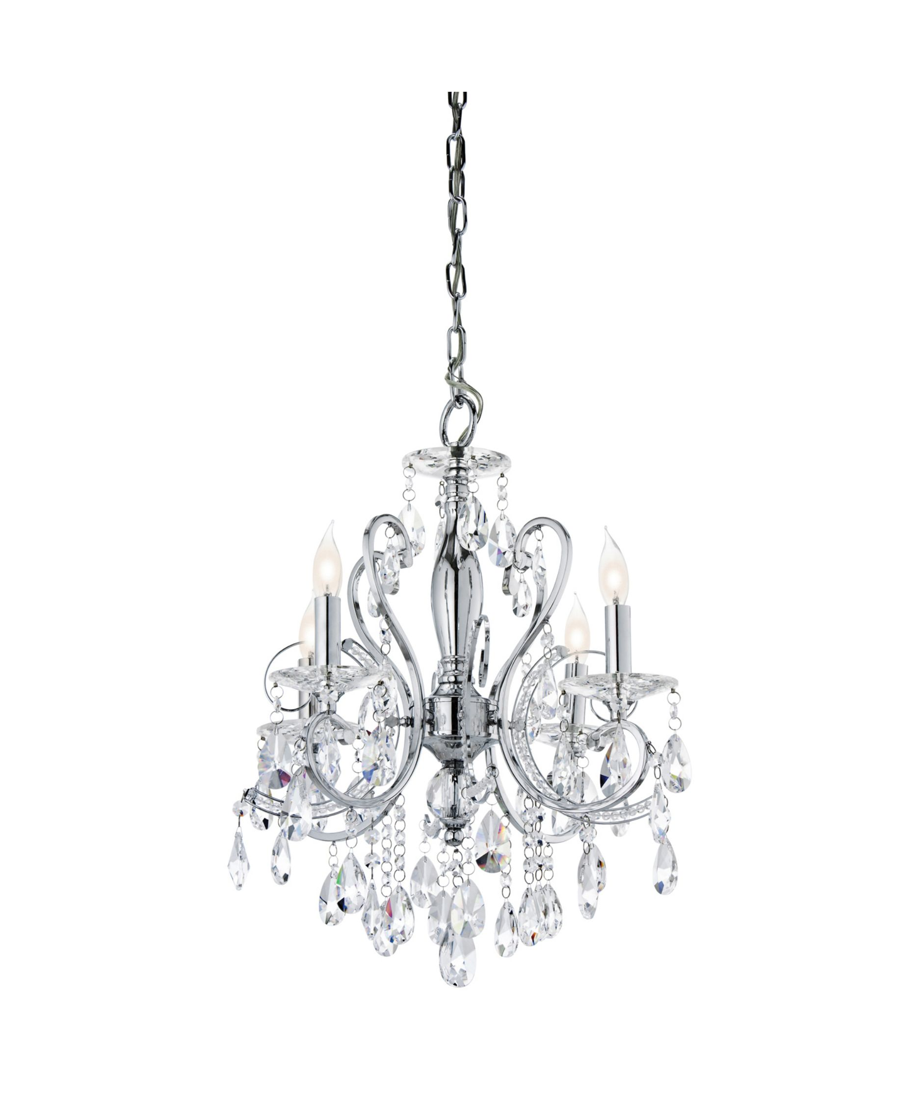 small black crystal chandelier # 38