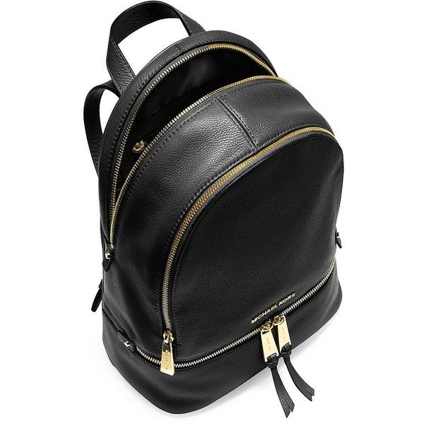 51c6f9edb0e9 Michael Michael Kors Rhea Small Leather Backpack ( 298) ❤ liked on Polyvore  featuring bags