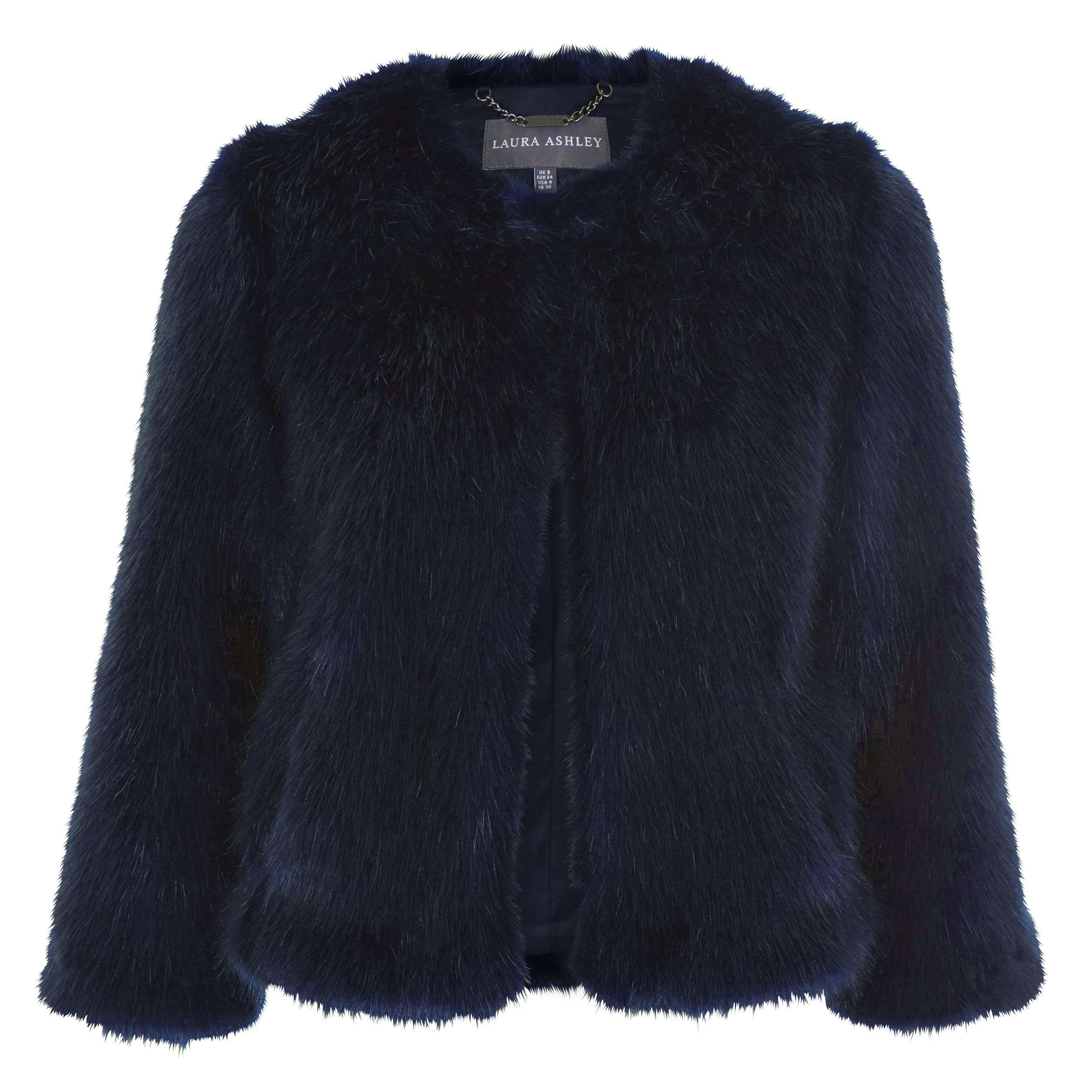 Ashley Fur: Laura Ashley Short Faux Fur Coat