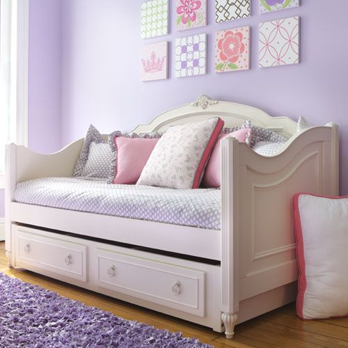 Pink Upholstered Daybed
