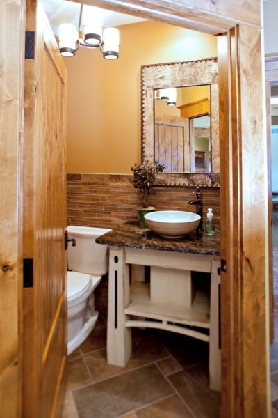 This Is A Cute Half Bathu2013 Photo Gallery By Wisconsin Log Homes   Bathrooms