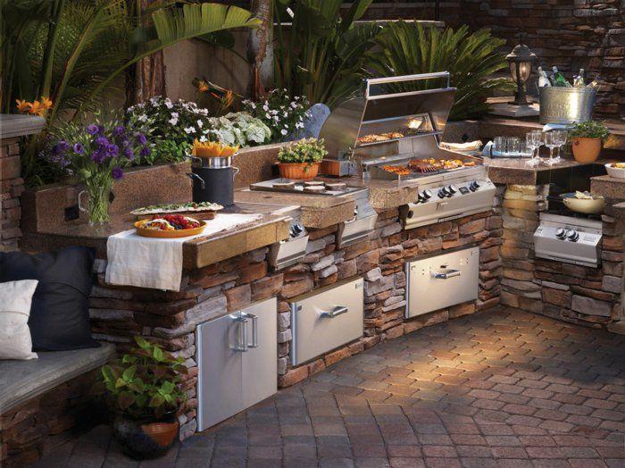 Outdoor Küchen Aus Stein : ▷ ideen für outdoor küche einrichtung und gestaltung