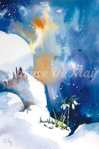 5 13 Le Froid Maryse Demay Aquarelle Aquarelle Fleurs Peinture