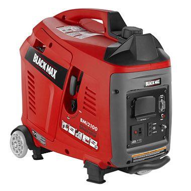 Black Max 1,700W / 2,100W Gas Powered Digital Inverter