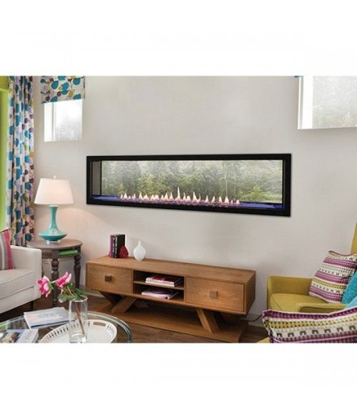 Empire Boulevard 60 Vent Fee Linear See Through Gas Fireplace