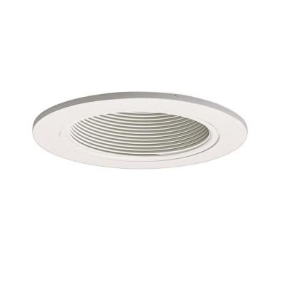 Halo 993 series 4 in white recessed ceiling light trim with baffle halo 4 in white recessed lighting baffle and trim 993w the home depot aloadofball Image collections