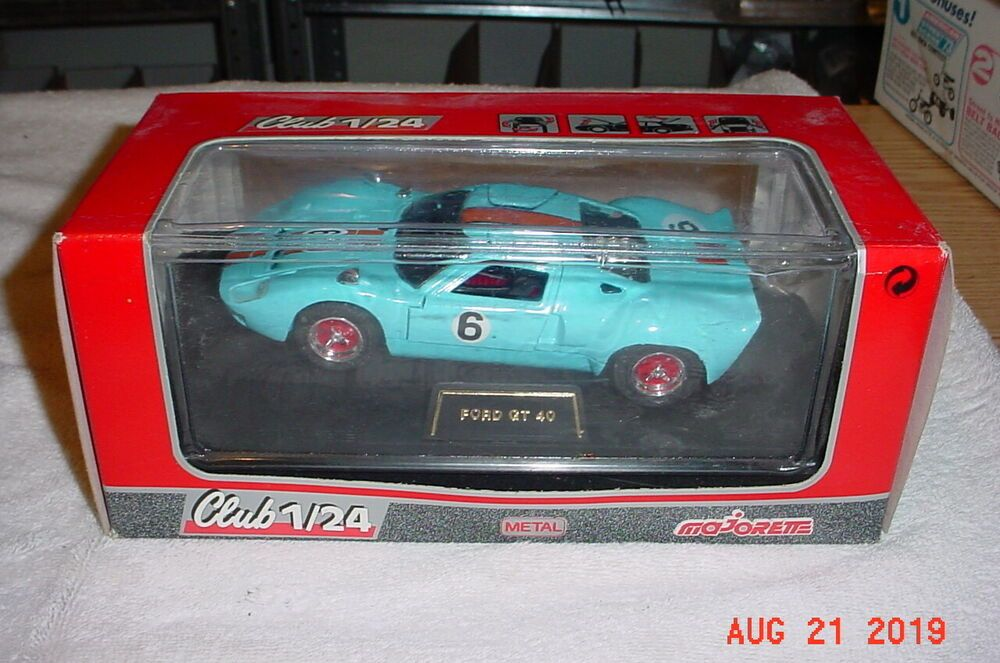 Majorette Ford GT 40 Gulf Blue 124 Diecast 4214 France