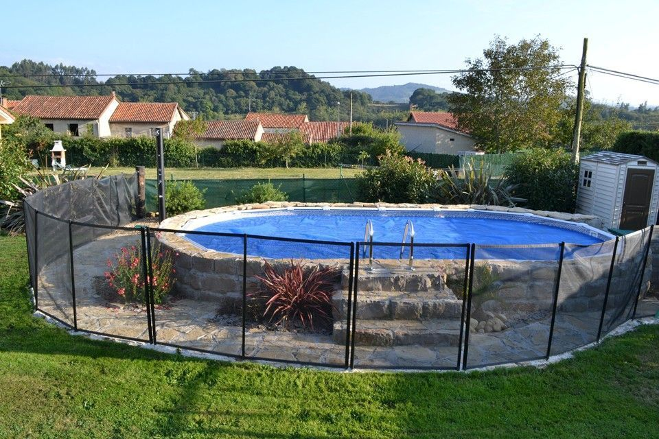 Pin de en www for Jardines con piscinas desmontables