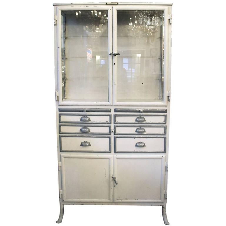 1890s, French, Dental Medical Cabinet With Drawers And