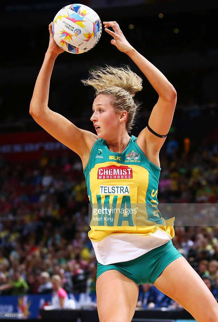 Erin Bell of the Diamonds catches the ball during the 2015 Netball World Cup match between Australia and Trinidad & Tobago at Allphones Arena on August 7, 2015 in Sydney, Australia.