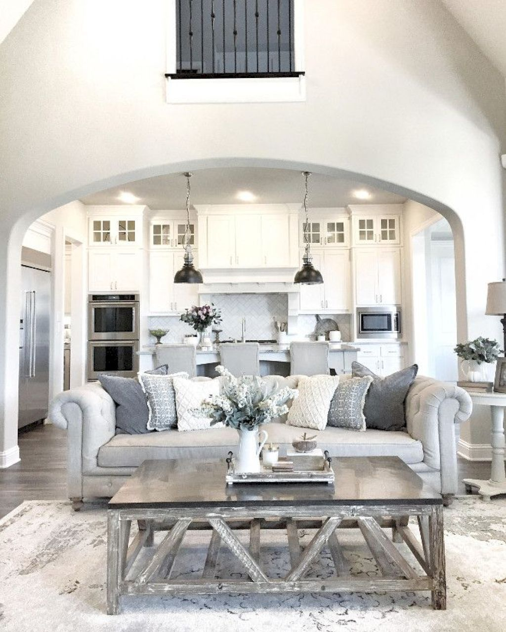 Farmhouse Living Room Ideas   For The Summer And Late Summer Complete With  Large Farmhouse Signs, Ceramic, Rustic Timber, And Fresh Lilac Cuttings.