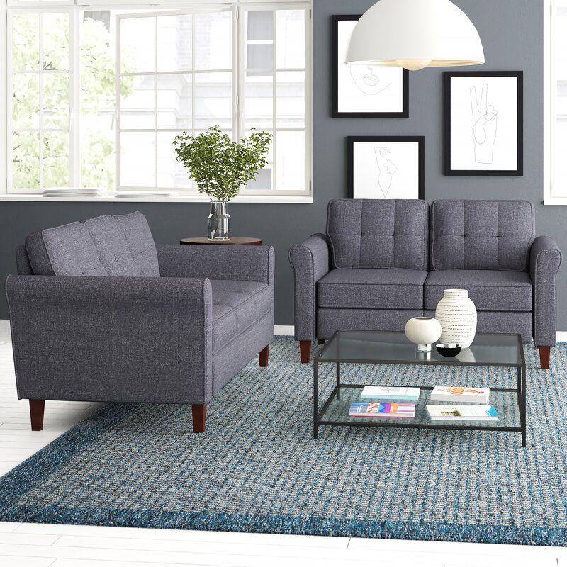 Zipcode Design Peru 2 Piece Living Room Set Wayfair Living Room Sets Room Set Living Room
