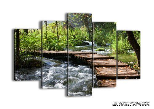 """Canvas Print Picture - 5 Piece - Total size: Width 59,1""""(150cm), Height 39,4""""(100cm) Completely framed - Wall Art - Ready to Hang - multi panel - five 5 Part Panels - photo no. 0356 - EA150x100-0356, http://www.amazon.com/dp/B00KCEBU08/ref=cm_sw_r_pi_awdm_z4n9vb0S1EBV1"""